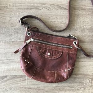Fossil long live vintage cross body brown